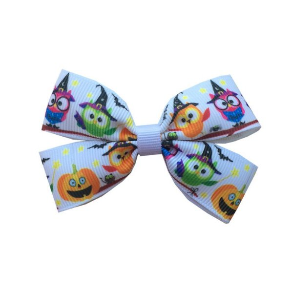 Laço Infantil Halloween Corujinha - M