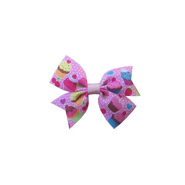 Laço para Cabelo Infantil Cupcake Rosa Claro - P