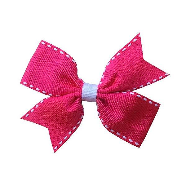 Laço Catavento Simples Rosa Escuro Pespontado - Catavento SImples - M