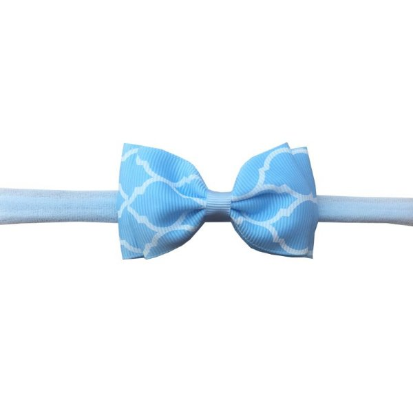 Faixa de Cabelo para Bebê Azul Claro Estampado