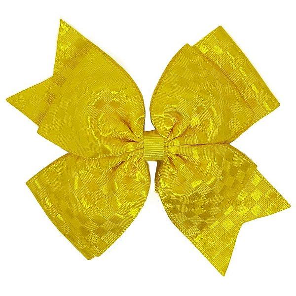 Laço Grande Amarelo Quadriculado - G