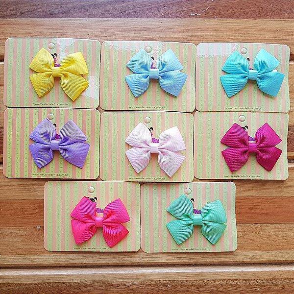 Kit 8 Laços de Cabelo Pequeno - Candy Colors