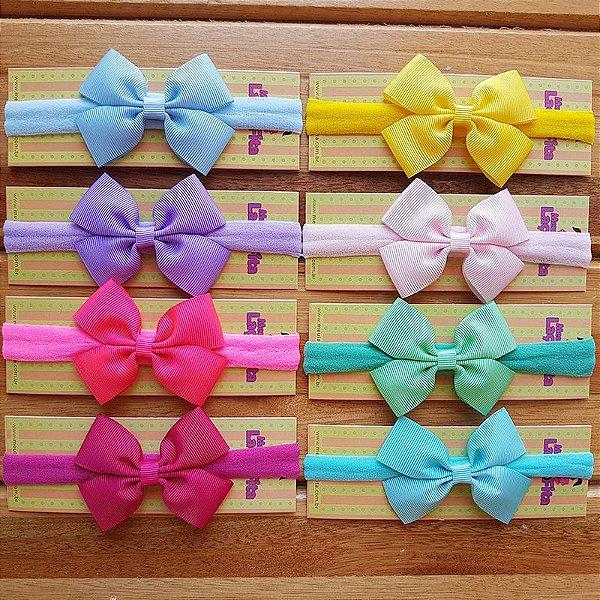 Kit com 8 Faixas de Bebê - Meia de Seda - Candy Colors