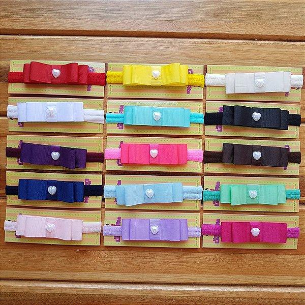Kit com 15 Faixas de Laço Chanel para Bebê Infantil