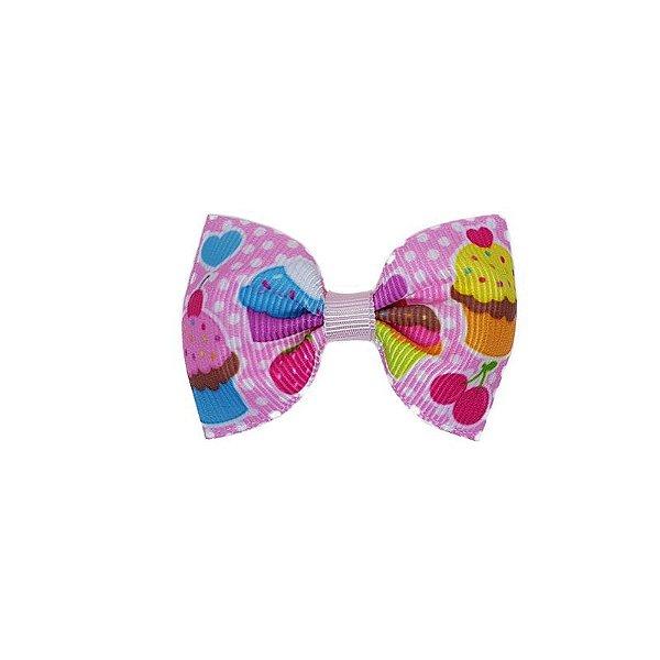 Lacinho de Bebê Cupcake Rosa Claro - P