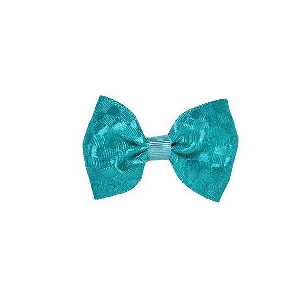 Lacinho de Bebê Azul Tiffany Quadriculado - P