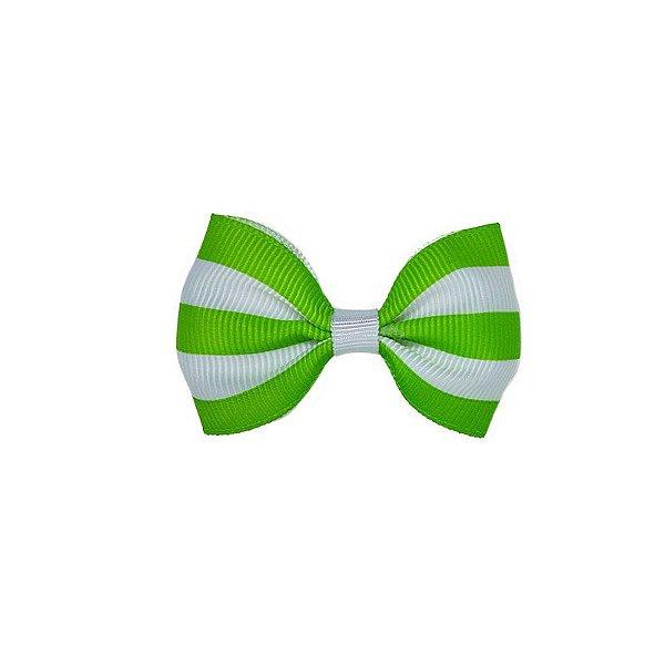 Lacinho de Bebê Verde Listrado - P