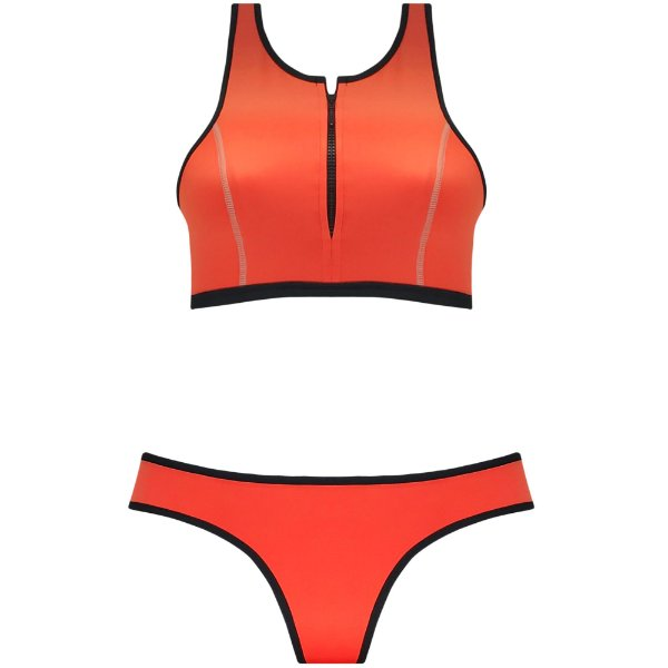 NEOPRENE CORAL - TOP CROPPED ZIPER | BOTTOM TRADICIONAL VIÉS