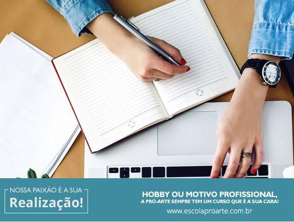 Coloque as ideias no papel: oficina de escrita - Mensal Aulas 2 vezes por semana