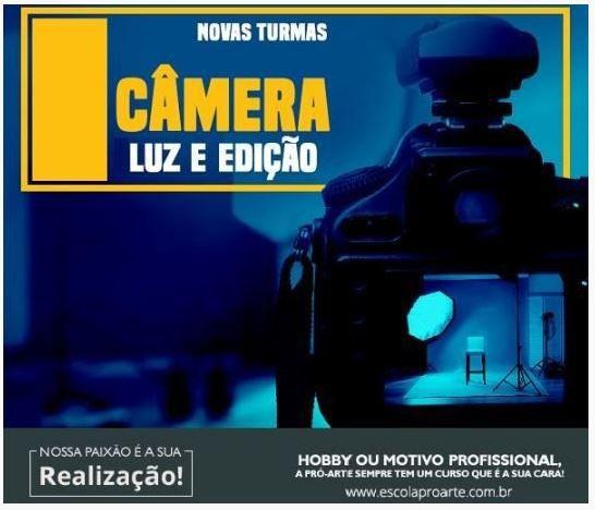 Curso de Fotografia - Câmera Luz e Edição Curso Individual - 20 horas