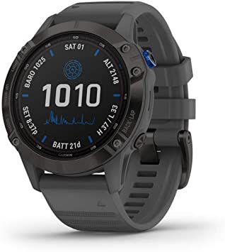 Relógio GPS Garmin Fênix Pro Solar Cinza