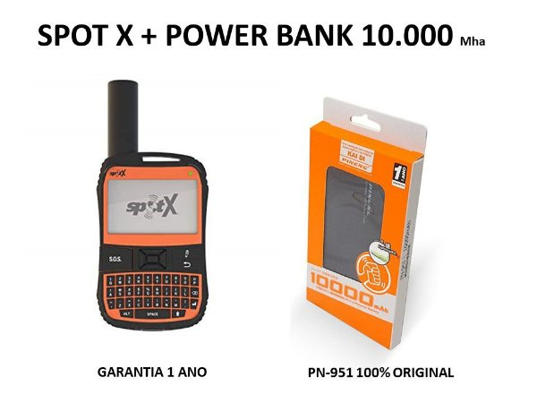 Rastreador Via Satélite Wi-Fi Spot X + Power Bank Pn-951 10.000Mha