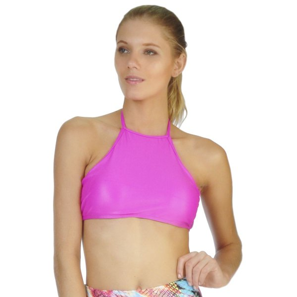 Top Cropped Glow Rosa