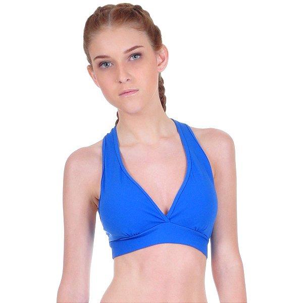 Top fitness Agridoce bojo removível azul