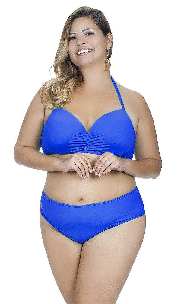 Calcinha Plus Size Básica Agridoce Azul Royal