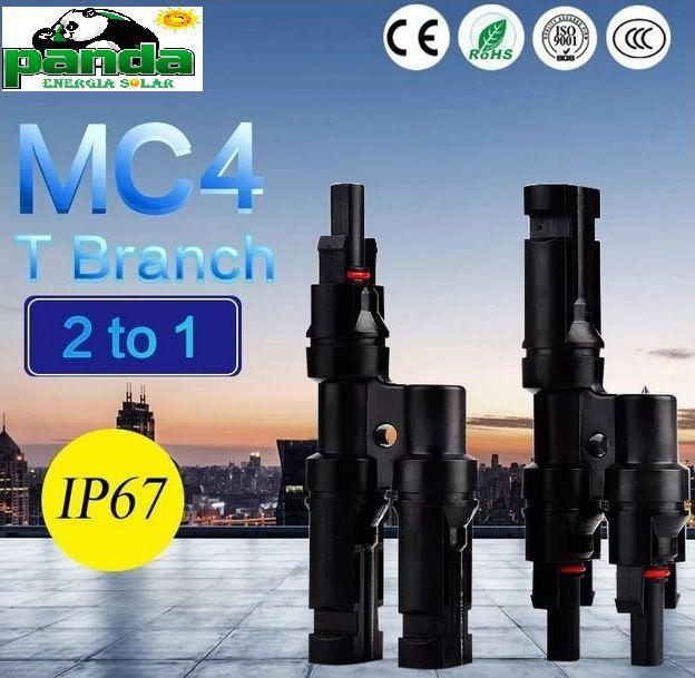 Conector MC4 Y/T Multibranch  (par) 1000Vdc 30A
