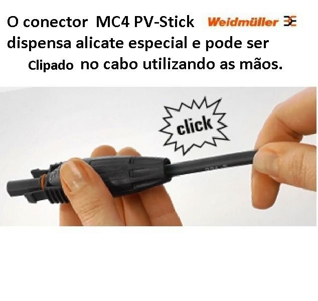 Conector  MC4 Pv Stick Weidmuller engate rápido (par)
