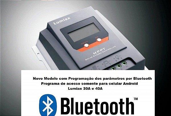 Controlador de Carga Solar MPPT 30A MT3075 BT 12/24 Vcc - Lumiax
