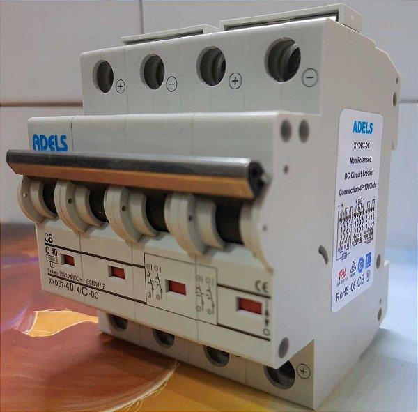 Disjuntor CC 40A 1000VCC 4 Polos ADELS