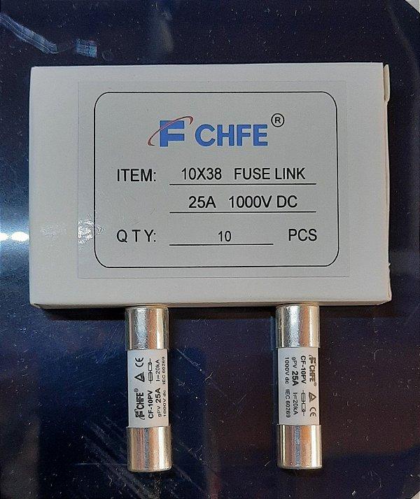 Fusível Solar 10x38 25A 1000VCC gPV CF-10PV FCHFE caixa 10 Peças