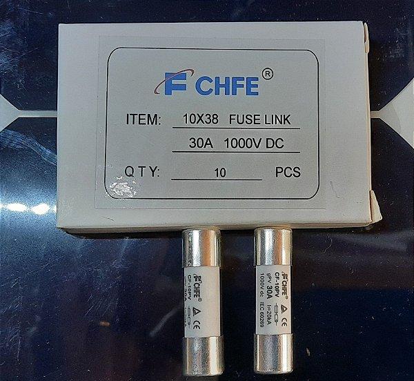 Fusível Solar 10x38 30A 1000VCC gPV CF-10PV FCHFE caixa 10 Peças