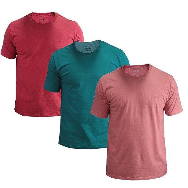 Kit 03 Camisetas Ogochi Slim Fit Essencial