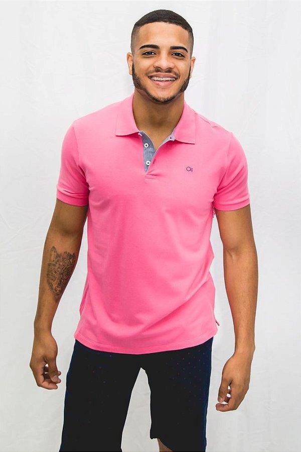afe6d97ddf Polo Ogochi Essencial Piquet Rosa Pink - Camisa Ogochi