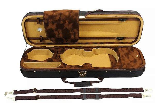 Estojo Case Retangular Violino 4/4 C/higrômetro Super Luxo