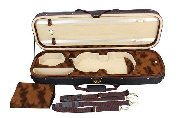 Estojo Retangular Violino 4/4 Com higrômetro Super Luxo