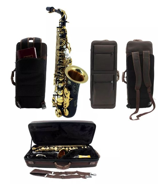 Saxofone Sax Alto Mib Konig Classic Séries Black Gold