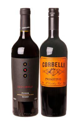 Confraria de Agosto 2021: Vinho Luccarelli Rosso Puglia IGP + Vinho Corbelli Primitivo Puglia IGT