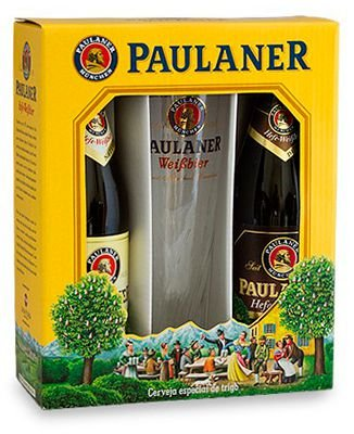 Cerveja Paulaner Kit com 2 Garrafas e 1 Copo Paulaner de 500 ml
