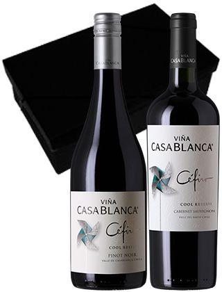 Kit Especial Chile: Cefiro Cabernet Sauvignon + Vinho Cefiro Pinot Noir + Caixa Preta Presente