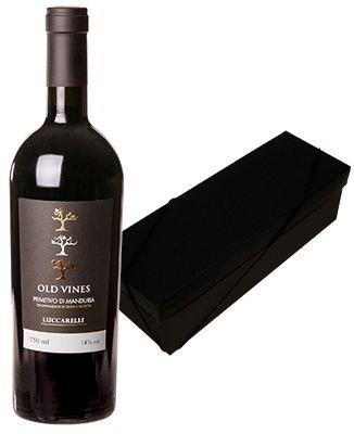 Kit Especial : Lucarelli Primitivo Di Manduria Old Vines + Caixa Preta 1 garrafa