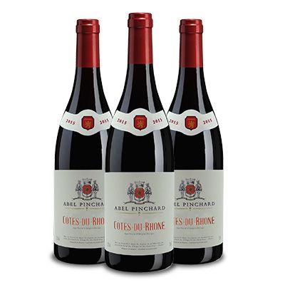 Kit com 3 Unidades Côtes Du Rhône Tinto Abel Pinchard + 15% de desconto + Frete Grátis