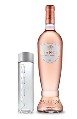 Kit Rosa: Manon Côtes de Provence Rosé + 1 Brinde: Aguá Voss sem gás 330 ml (PET)