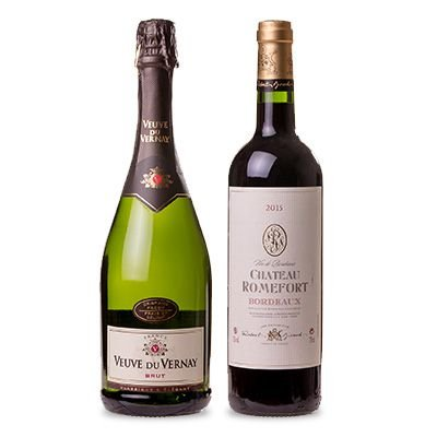 Confraria Dezembro 2017: Veuve Du Vernay Brut + Chateau Romefort Bordeaux Tinto