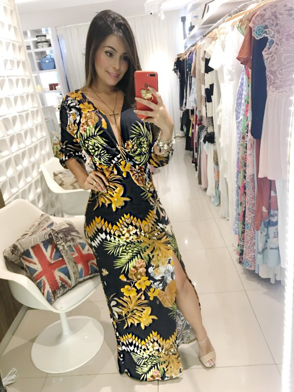 Vestido estampado exclusivo