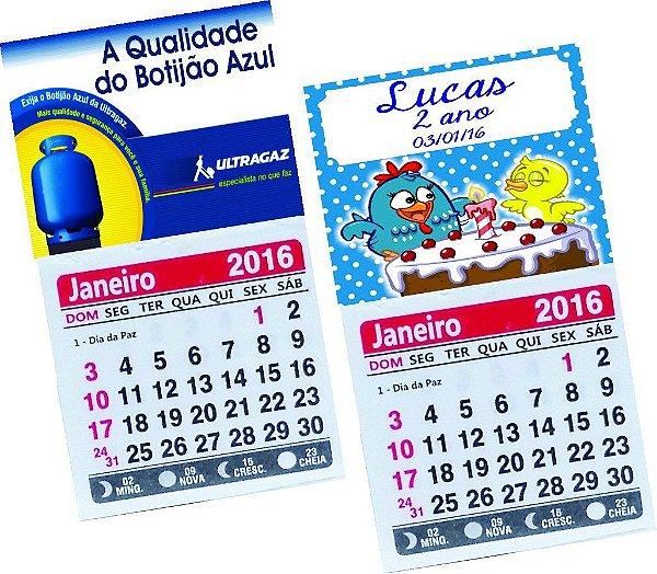 Mini Calendario.50 Mini Calendario Personalizado C Ima Geladeira 5x5