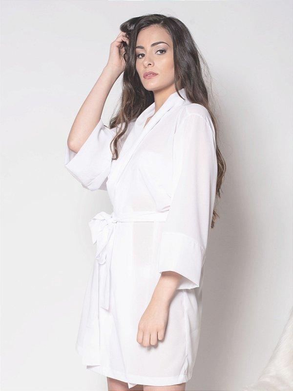 Kimono Branco - Crepe