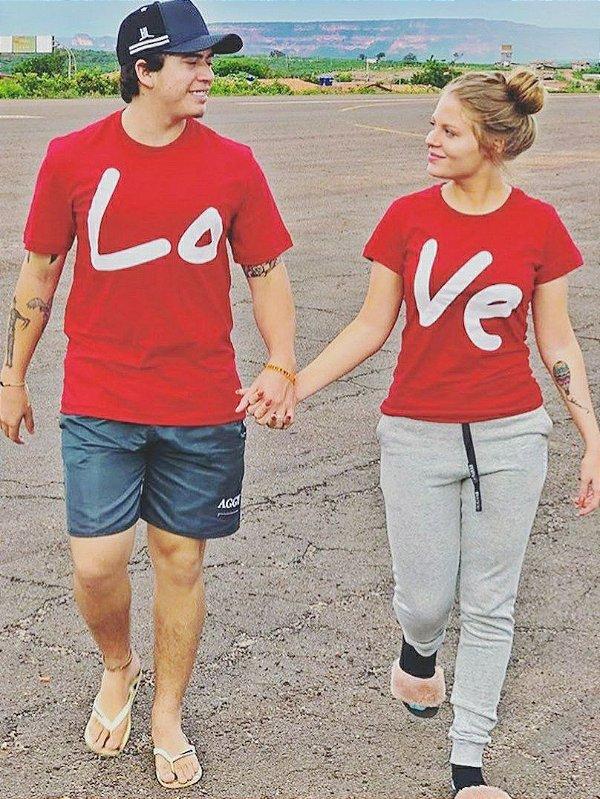 8c932cdd897463 Camisa Casal Love Vermelha