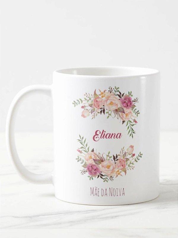 Caneca Mãe da Noiva Floral