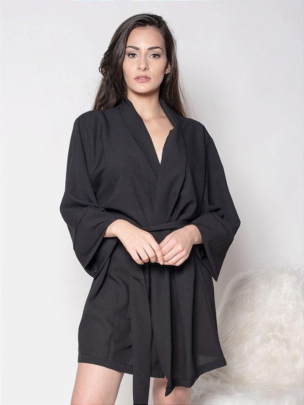 Kimono Preto - Crepe