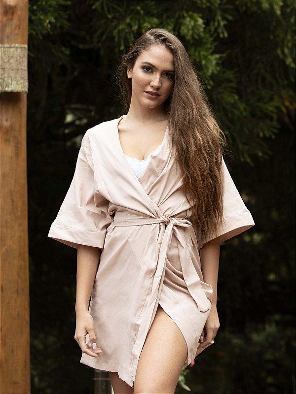 Robe Tradicional Opaco - Nude