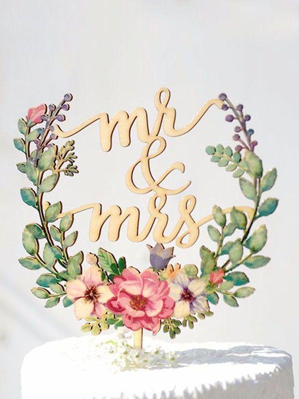 Topo de Bolo - Mr & Mrs