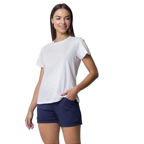 Short Doll Feminino com Bolso Azul Marinho