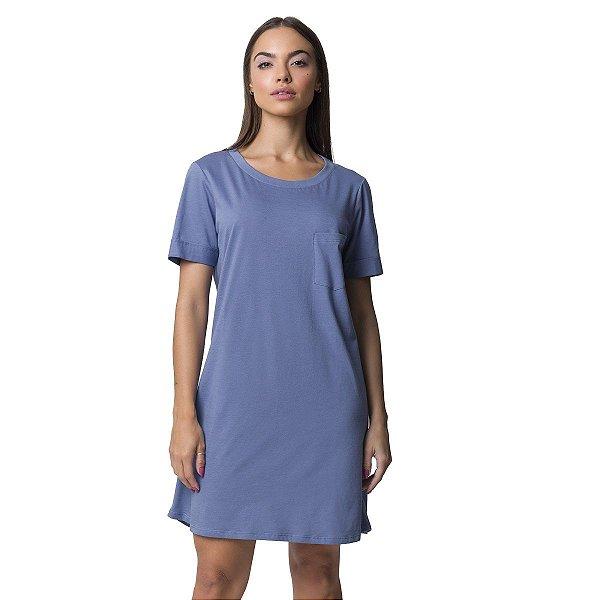 Camisão Feminino Curto Azul Touch