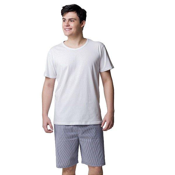 Pijama Masculino Curto Listra Virtude