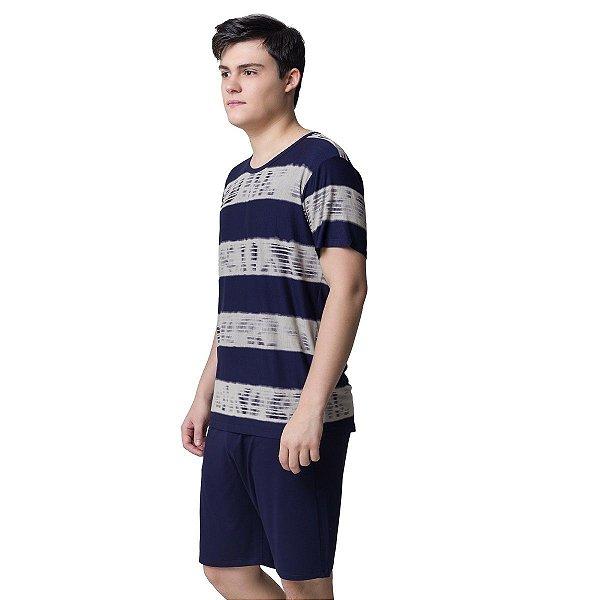 Pijama Masculino Curto Marinho Wave