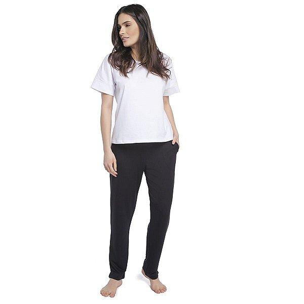 Calça Feminina Comfy Preta com Bolso